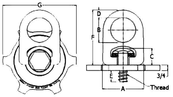 Street Plate Swivel Hoist Ring