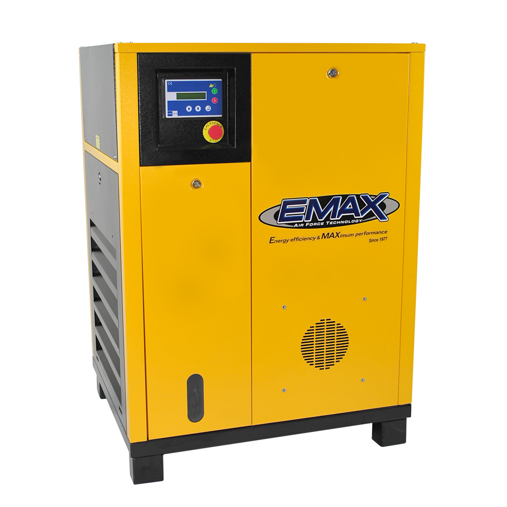 10 HP Rotary Screw Air Compressor, 1 Phase, EMAX Industrial
