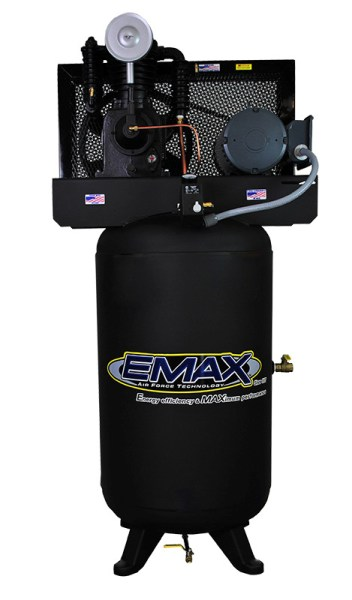 Emax Industrial 5hp 2 Stage Single Phase Inline 80 Gallon Vertical
