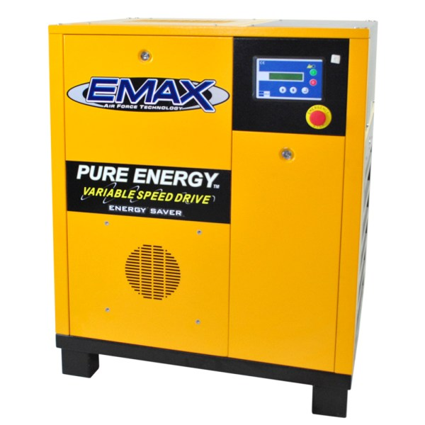 EMAX Industrial Variable Speed 7.5 HP 1 Phase Rotary Screw Air Compressor