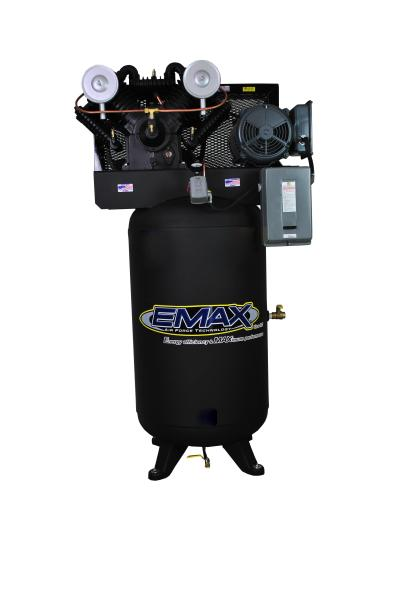 Emax Industrial 7.5hp 2 Stage Single Phase V4 80 Gallon Vertical