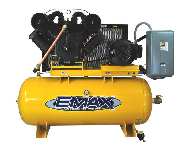 Emax Industrial Plus 20hp Three Phase 120 gallon Horizontal Air Compressor