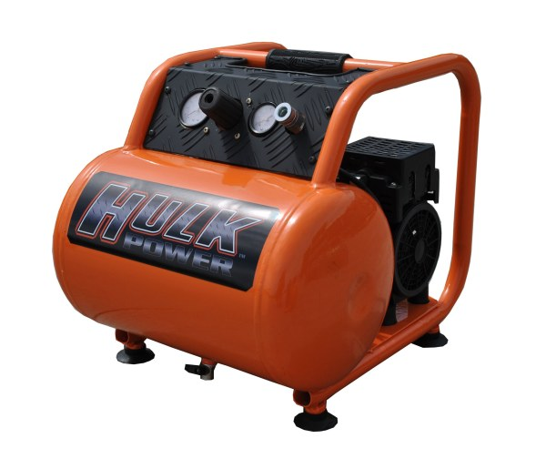 New 1hp 5 Gallon Hulk Silent Air Portable Compressor