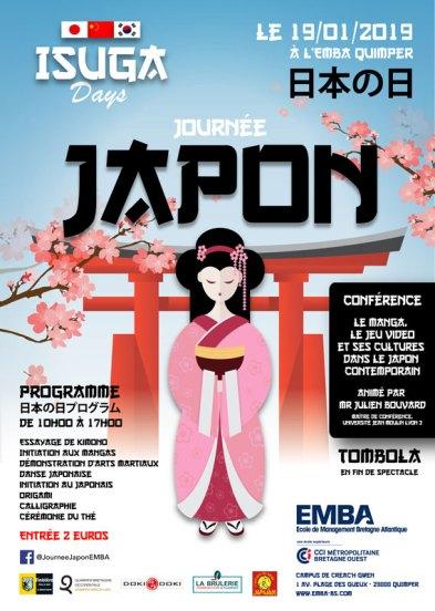 affiche journée Japon à l'Isuga