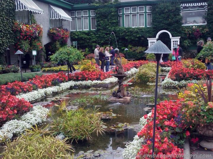 The Butchart Gardens Canadá Italian Gardens final de primavera