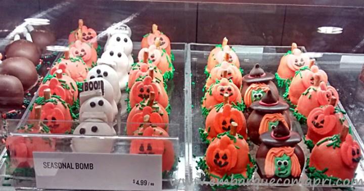 Chocolates enfeitados com o tema Halloween
