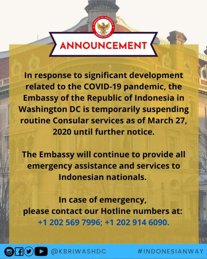 Government Embassy Of The Republic Of Indonesia Washington D C