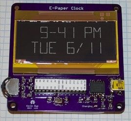 e-paper display clock