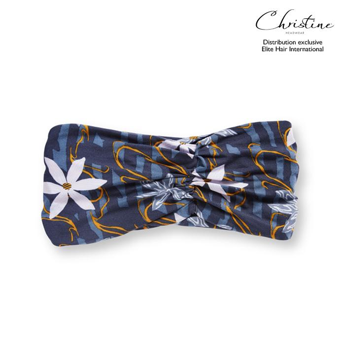 Bandeau bleu à fleur 19€
