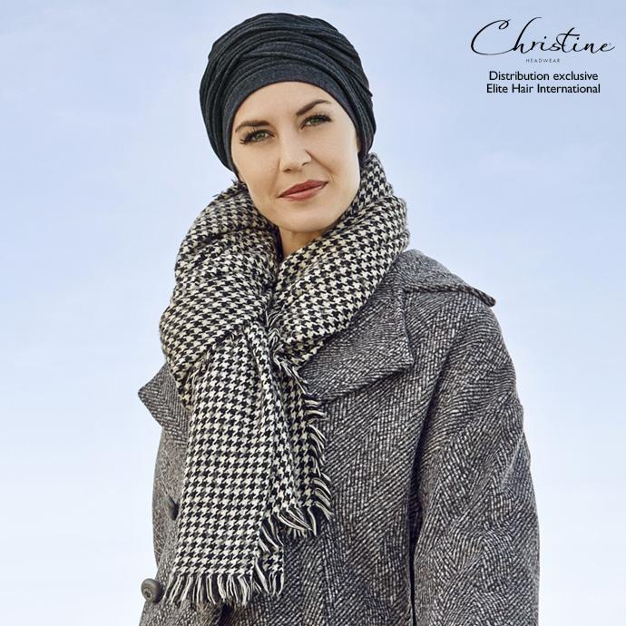 Bonnet-écharpe gris