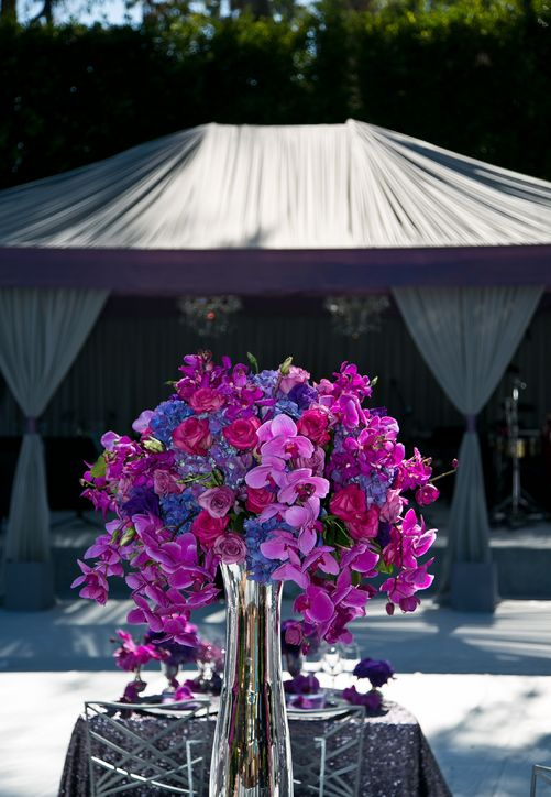 Radiant Orchid Centerpiece