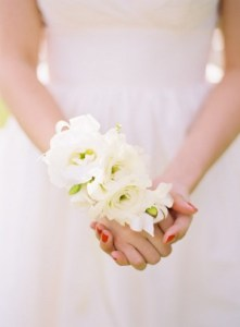 bridal corsage, wrist corsage, flower alternative