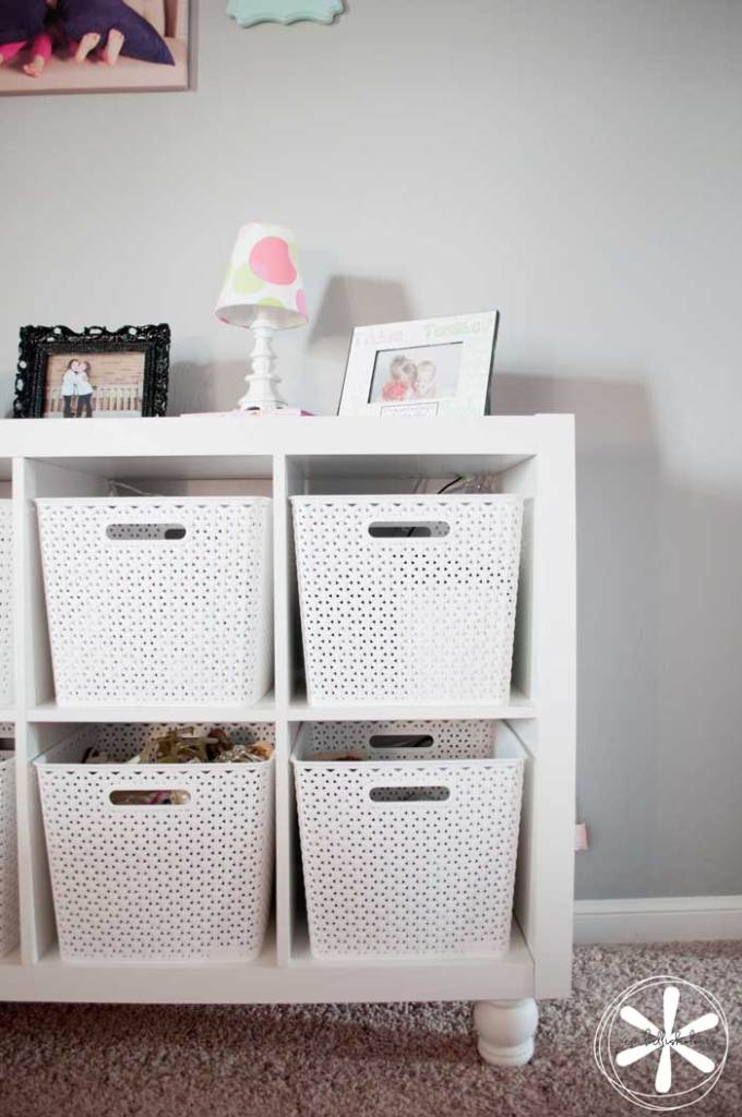 Transform an ordinary cube shelf into a nice piece of furniture.