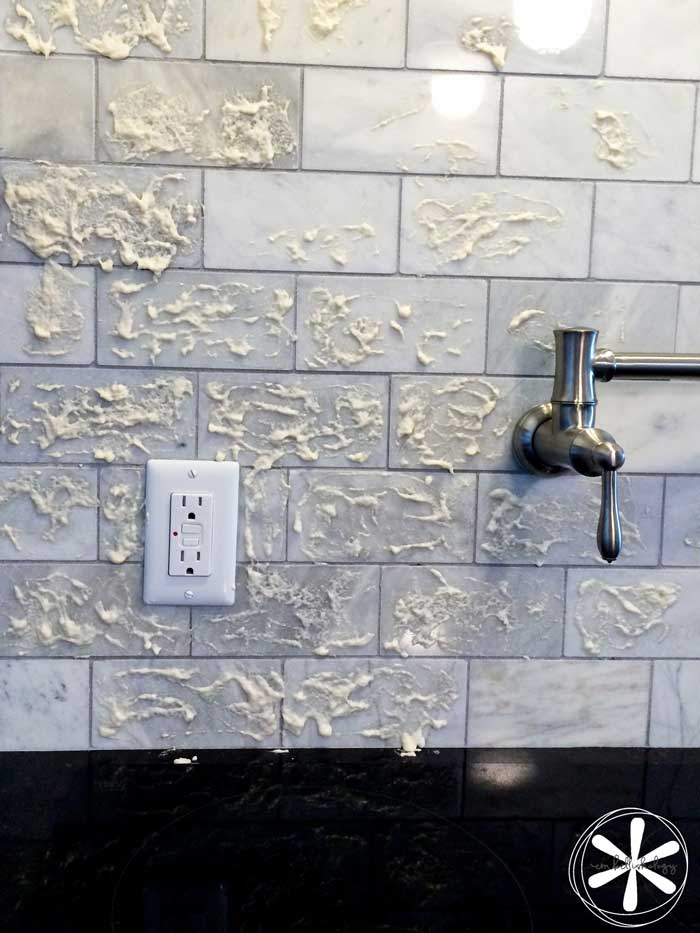 Try this simple trick to remove stains from marble tile or counter tops.