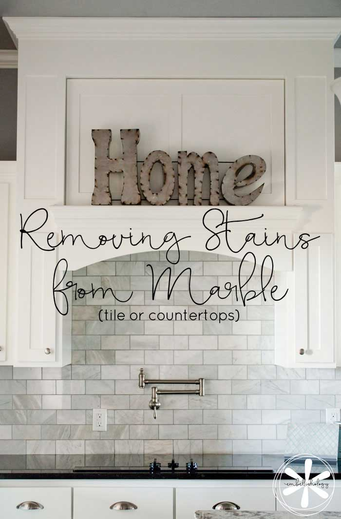 Seeing stains on your marble? Try this simple trick to get them out!