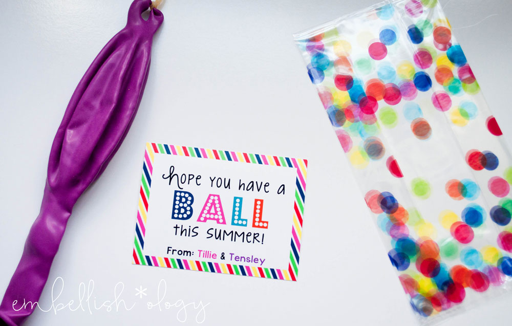 photo relating to Have a Ball This Summer Free Printable known as Conclusion of Faculty Present Strategy for Close friends Clmates - adorn