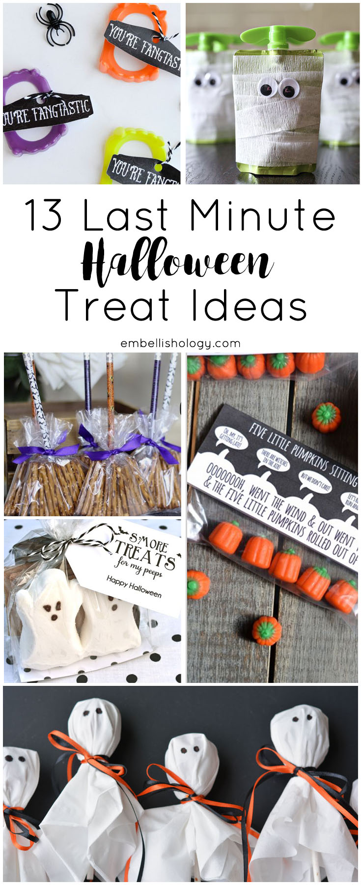 Do you wait until the last minute to whip up halloween treats? Here are 13 quick and easy Halloween Treat Ideas!
