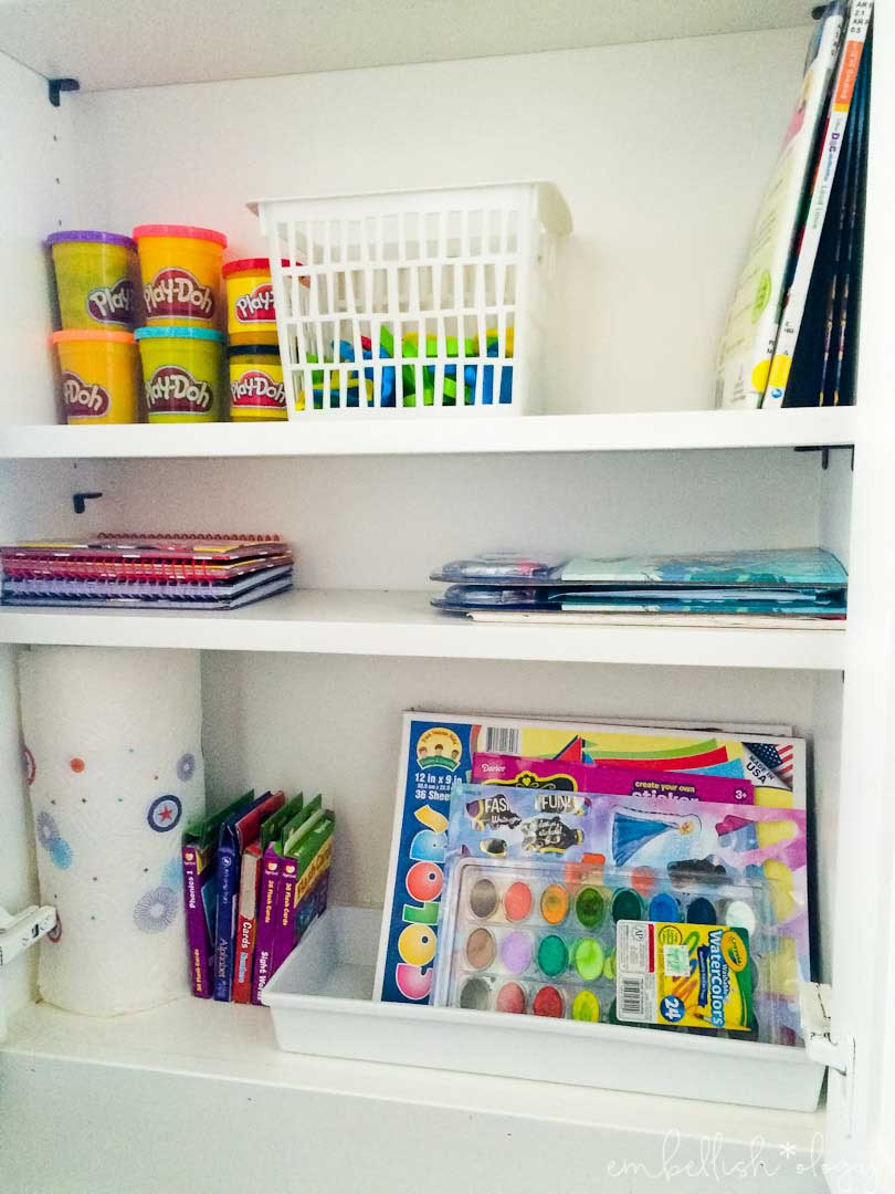 Ideas for organizing kids 39 craft supplies in a small space embellish ology - Organizing craft supplies in small space collection ...