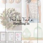 Friday Finds + Blending In
