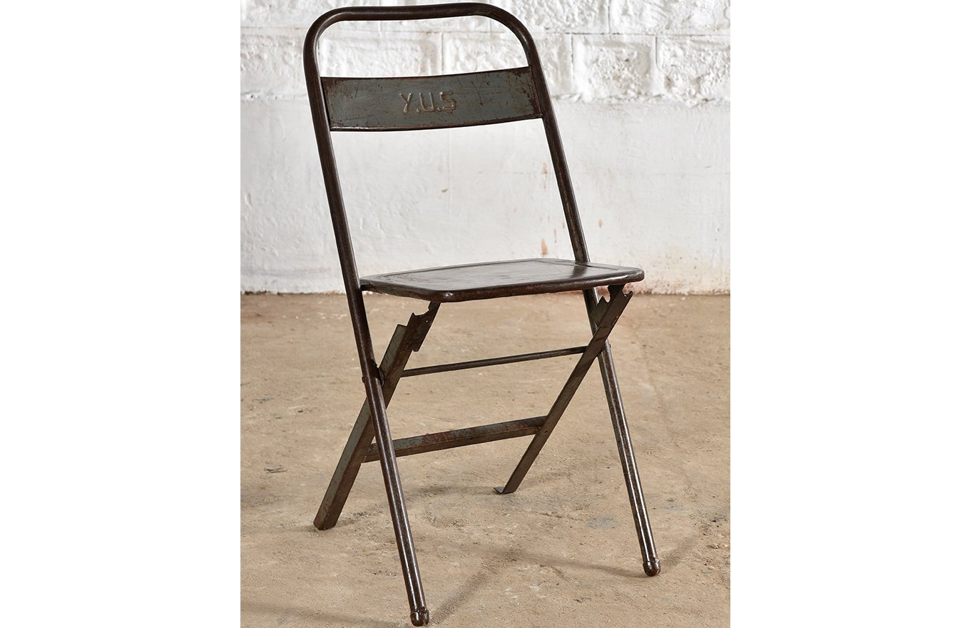 folding chair wall rack overstock leather ember home hamesha