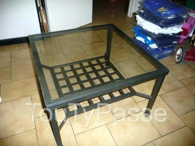table basse ikea fer forge verre emberizaone fr