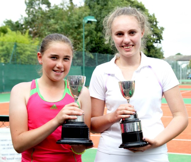 Eloise & Pippa - Ladies Doubles winners 2015