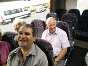 Trouble makers at the back of the bus.