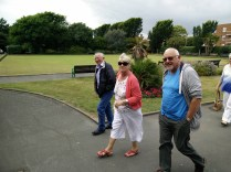 Dick, Linda and Dave head off to the seafront.