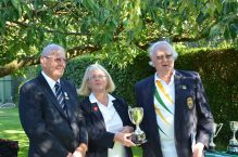 Captain Anna with the Mens' Pairs Champions