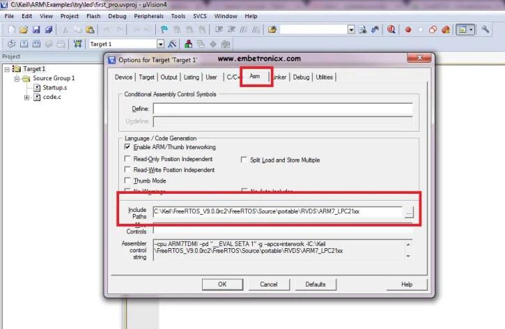 freertos6 LPC2148 - FreeRTOS Porting with Keil IDE