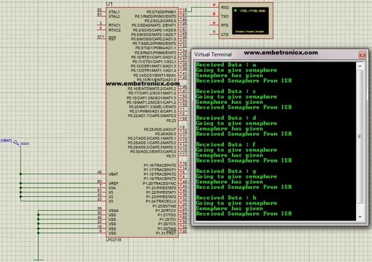 lpc2148-freertos-semaphore-from-isr FreeRTOS - LPC2148 Binary Semaphore in ISR
