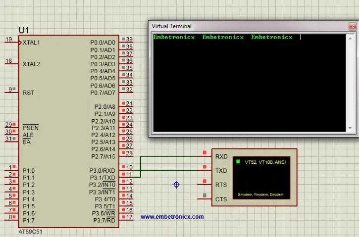 output 8051 - UART Tutorial