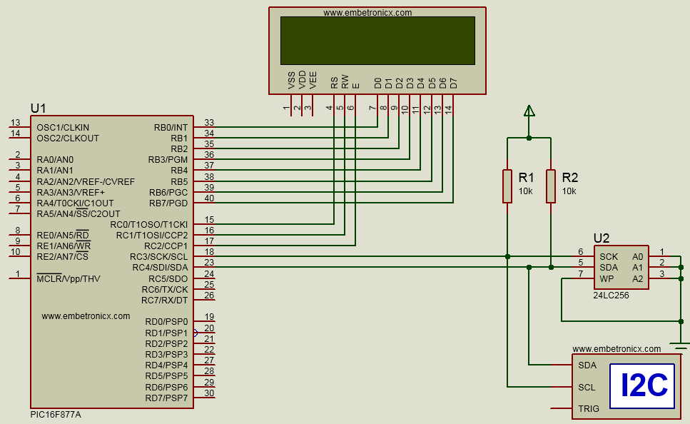 Pic16f877a I2c Tutorial  Eeprom Interfaing