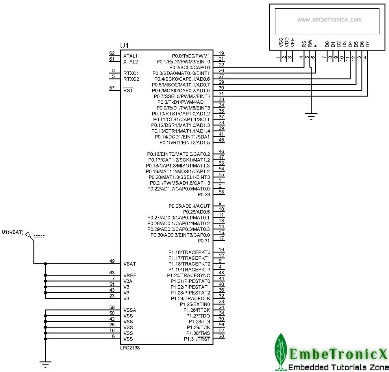 Lcd 4 Bit Interfacing With Lpc