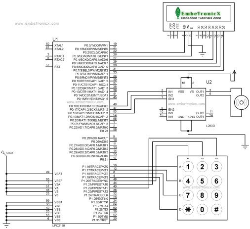 Password Based Door Open System Using LPC2148