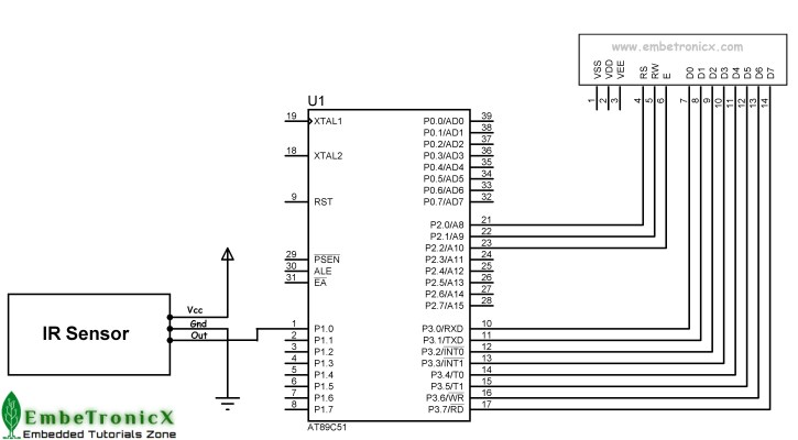 ir-sensor-interfacing-with-8051 IR Sensor Interfacing With 8051