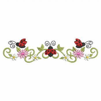 embroidery design - heirloom ladybug