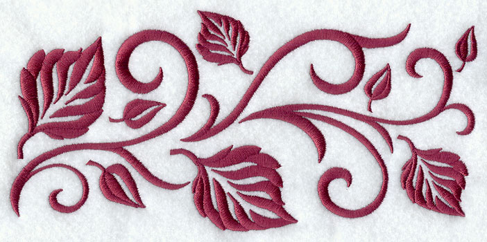 Machine Embroidery Designs At Embroidery Library! Autumn Leaf Border