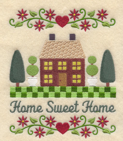 Machine Embroidery Designs At Embroidery Library! Home Sweet Home