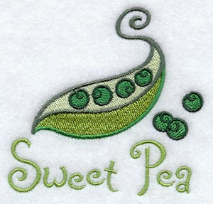 sweet pea embroidery # 45