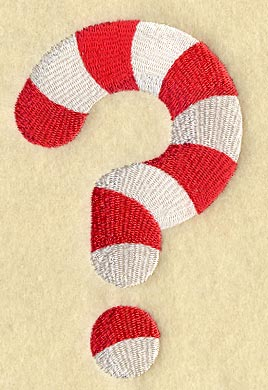 Image result for question mark candy cane