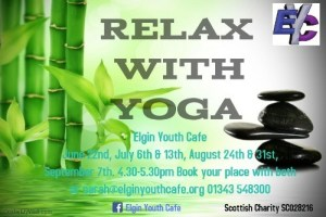 Relax with yoga at Elgin Youth Cafe