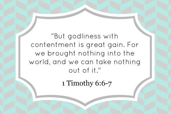 1 Timothy 6:6-7 decorative verse card