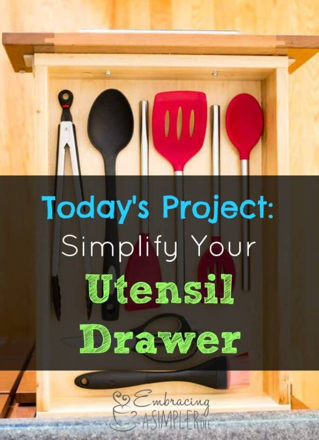 simplify your utensil drawer