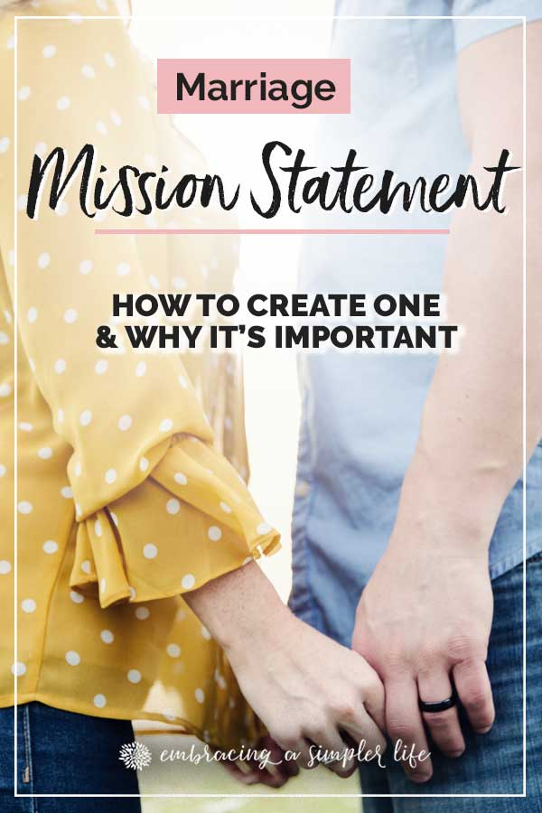 How to create a Marriage Mission Statement