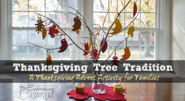 Thanksgiving Tree Tradition