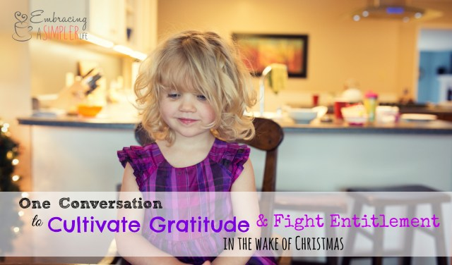 one conversation to cultivate gratitude