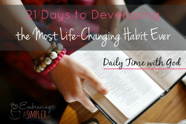 21 days to daily time with God small
