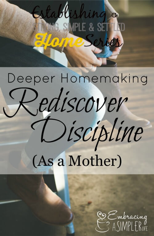 on rediscovering discipline