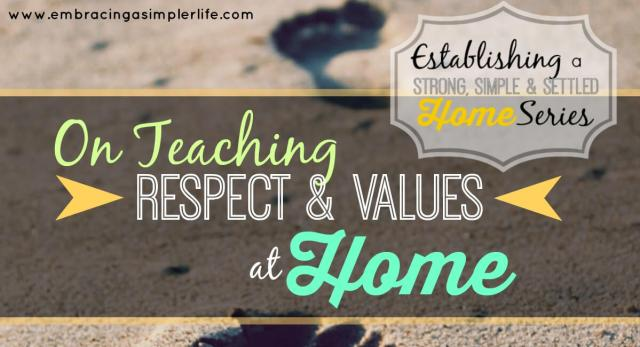 on teaching respect and values FB